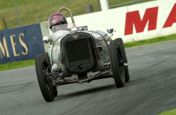 Ian Brock competing at Mallala in his Austin 7